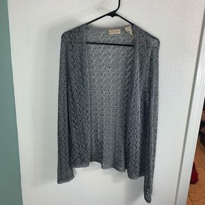Apostrophe Gray Lace Cardigan XL